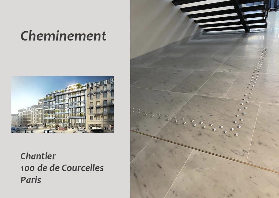 rails barrettes de cheminement guidage au sol cheminement installation entreprise 2Dmat à Paris et toute la France