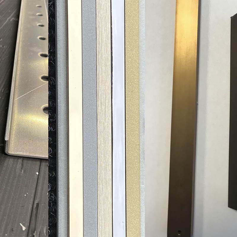 Profilés téchnique et de finition 2Dmat : protegent, et absorbent compression et  dilatation des matériaux
